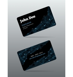 Futuristic business card vector image