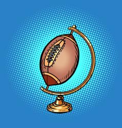 globe international american football or rugby vector image