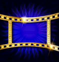 gold film strip vector image