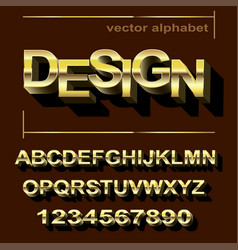 golden font design for typography vector image