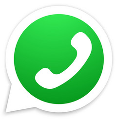 Green Old School Phone Icon inside White vector