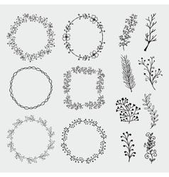 Hand Sketched Frames Borders Design vector image vector image