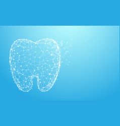 healthy tooth form lines triangles and particle vector image