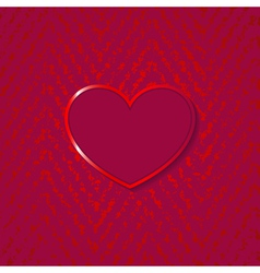 Heart for valentines day on grunge background vector