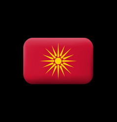 Historical flag of republic of macedonia matted vector