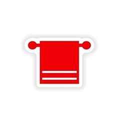 Icon sticker realistic design on paper towel spa vector
