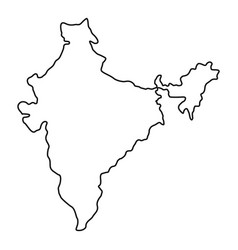 Indian map icon outline style vector