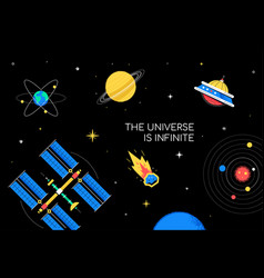 infinite universe - flat design style conceptual vector image
