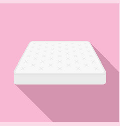 King size mattress icon flat style vector