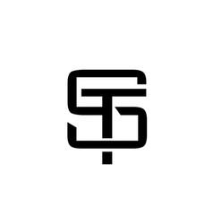 Letter st monogram logo vector
