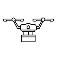 Logistic drone delivery icon outline style vector