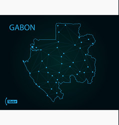 map gabon world map vector image