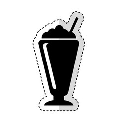 Milkshake silhouette isolated icon vector