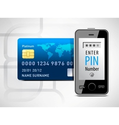 Mobile phone and credit card vector