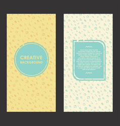 modern layout with creative background abstract vector image