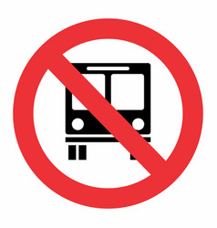 no bus traffic sign vector image