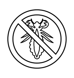 No louse sign icon outline style vector