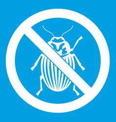No potato beetle sign icon white vector