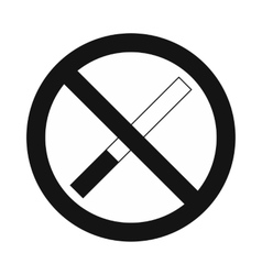 No smoking sign black simple icon vector