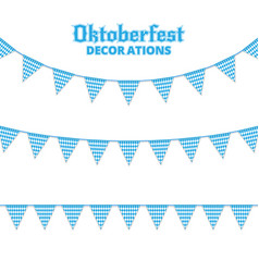 oktoberfest buntings decorations for oktoberfest vector image