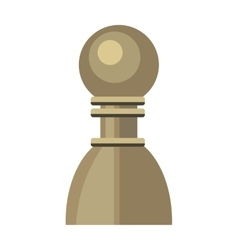 Pawn in Flat Style Design vector