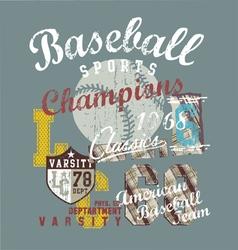 Popular sport baseball vector