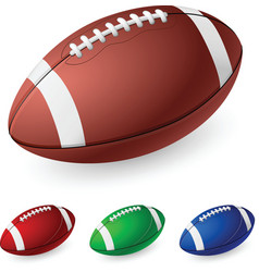 Realistic american football on white background vector