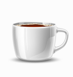 realistic mug cup coffee side view vector image