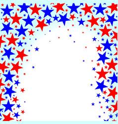 Red white blue stars vector