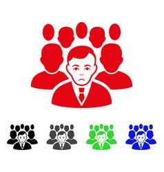Sad crowd icon vector