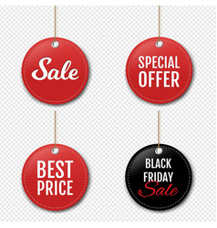 Sale labels set with isolated transparent vector