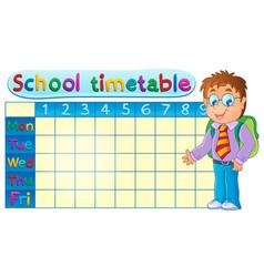 School timetable theme image 1 vector