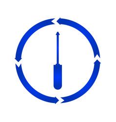 screwdriver turn icon vector image