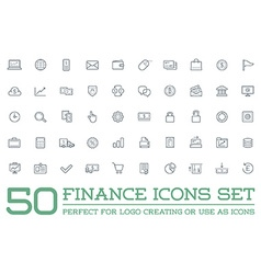 Set of Finance Money Icons and Payments and Income vector image