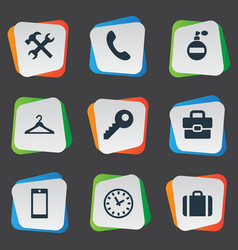 Set simple instrument icons vector