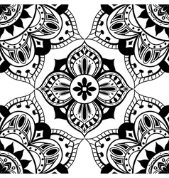 Simple black and white pattern vector