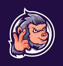Smart monkey vector