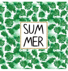 summer tropic template with plant seamless pattern vector image