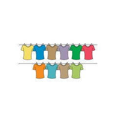 T-shirts-drying vector