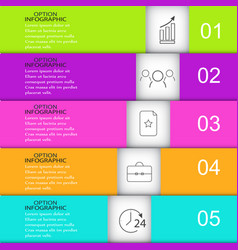 Template infographics rectangle vector