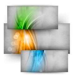 Three color cards vector