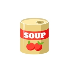 Tomato Soup In Can Simplified Icon vector