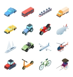 Transportation set icons in cartoon style Big vector