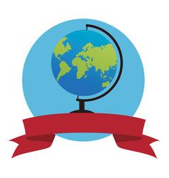 Travel globe icon vector
