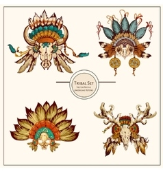 Tribal indian graphic vector