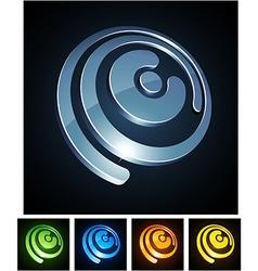 Vibrant 3d e letter vector image