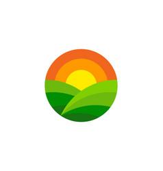 warm farm logo icon design vector image