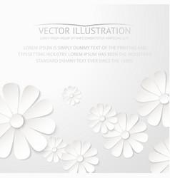 White paper flower postcard vector image