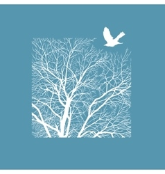 winter tree in a square vector image
