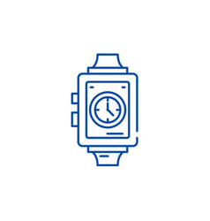 wrist watch line icon concept wrist watch flat vector image